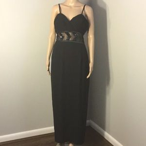ADRIANNA PAPELL : BLACK EVENING DRESS:  Size 12